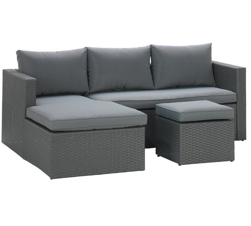 Buy Argos Home Rattan Effect Reversible Mini Corner Sofa Garden Chairs And Sun Loungers Argos Grey Corner Sofa Sofa Corner Sofa