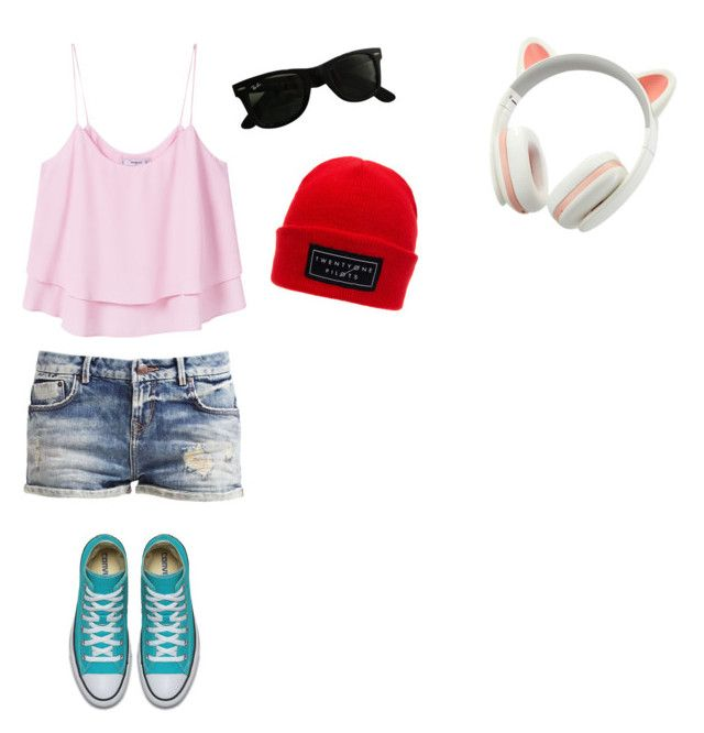 """""""Untitled #91"""" by darkenedroses on Polyvore featuring MANGO and Ray-Ban"""