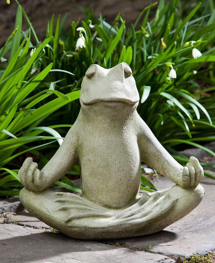 Meditating Frog Fountain Stone Garden Statues Frog Statues Garden Statues