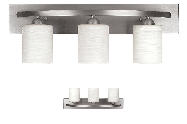 Wholeplumbing Ivl370a03bpt 3 Bulb Vanity Light Fixture Bath Interior Lighting Brushed Nickel