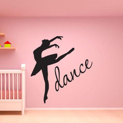 Ballerina decal Dance wall decal quote Girls room decor Baby shower gift Girl nursery wall art Dance decal Dance decor Bedroom wall art