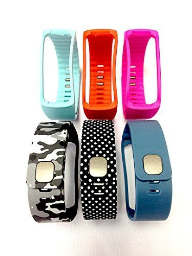Set 1 Camouflage Army Camo Military 1 Slate 1 Black with White Dots Spots 1  Teal 1 Pink 1 Tangerine Replacement Bands & Metal Clasps For Samsung Galaxy  Gear ...