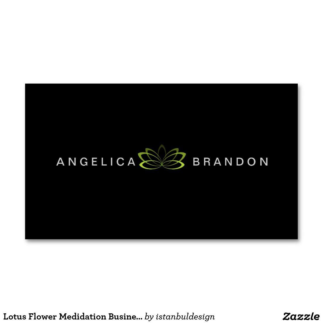 Lotus Flower Medidation Business Card | Meditation Business Cards ...