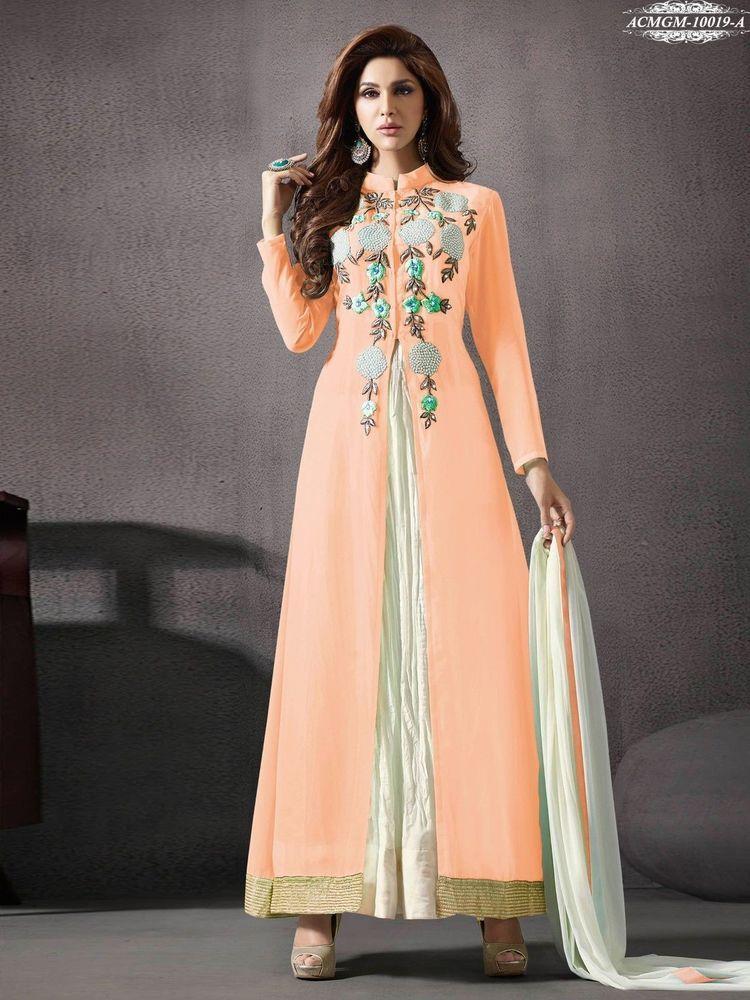 Women's Clothing Shalwar Indian Bollywood Kameez Salwar Designer Pakistani Anarkali Suit Dress Pretty And Colorful