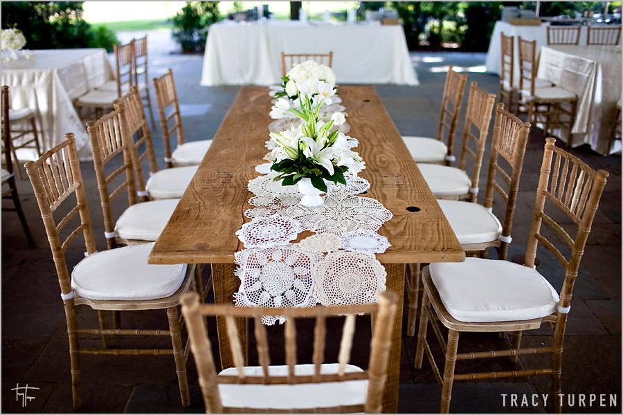 Lace Doily Wedding Table