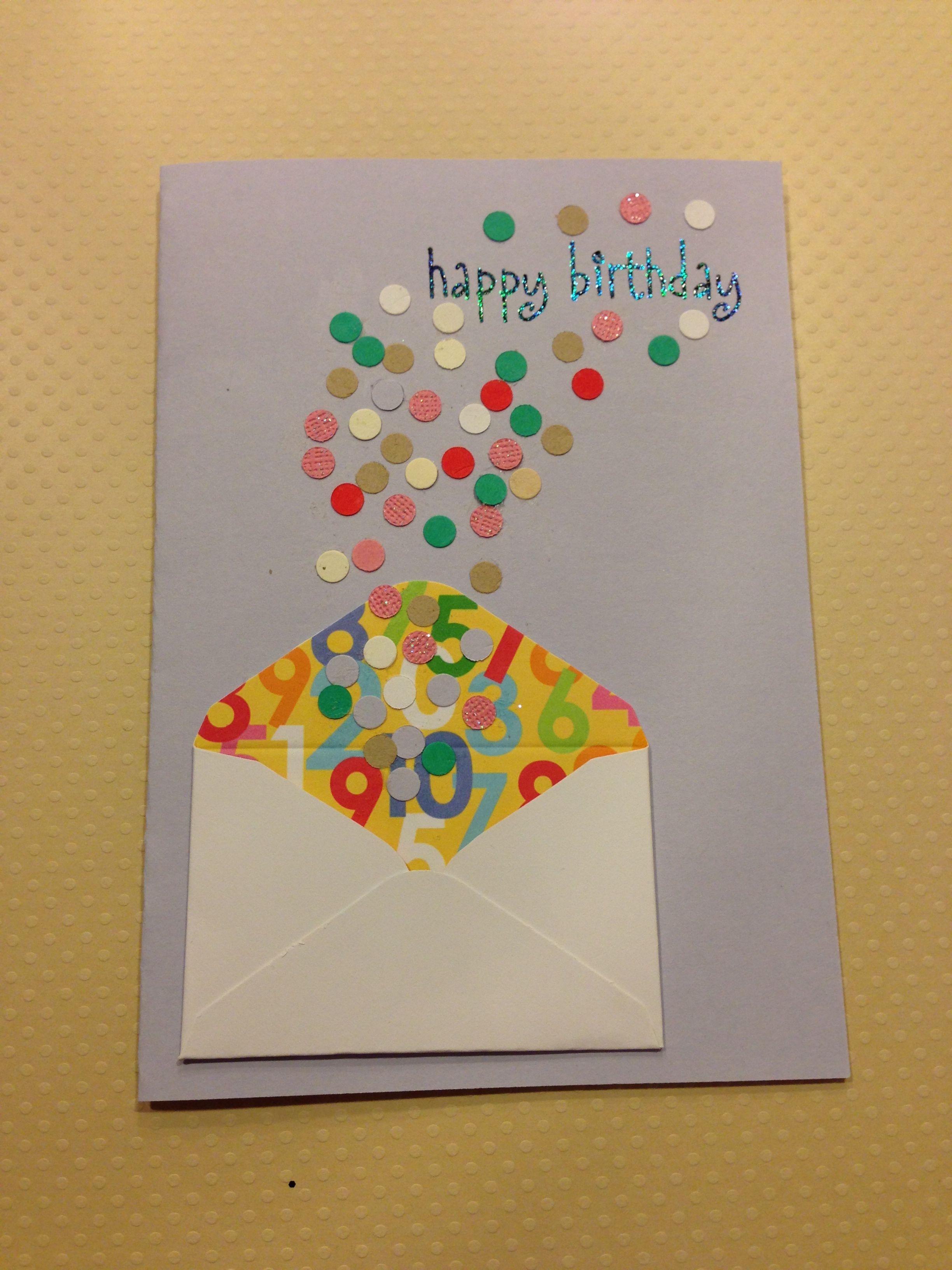 Birthday Card With Confetti Exploding Envelope Embellishment Could Work For Christmas With Snowflakes Carte Anniversaire Cartes De Voeux Carte