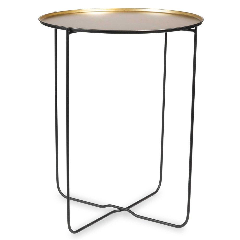 Mesa auxiliar de metal negro y dorado MAYA | Inredning | Pinterest ...