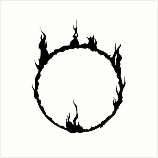 Dark Souls Dark Sign Black Tatuagem De Jogos Tatuagens Fixes Tatuagem