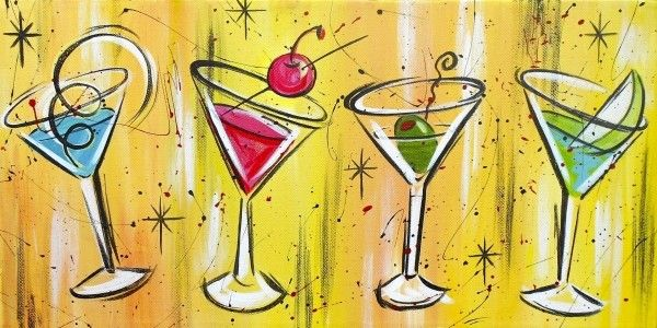 Martinis! Would like to do this painting at Happy Our Art!!   Art ...