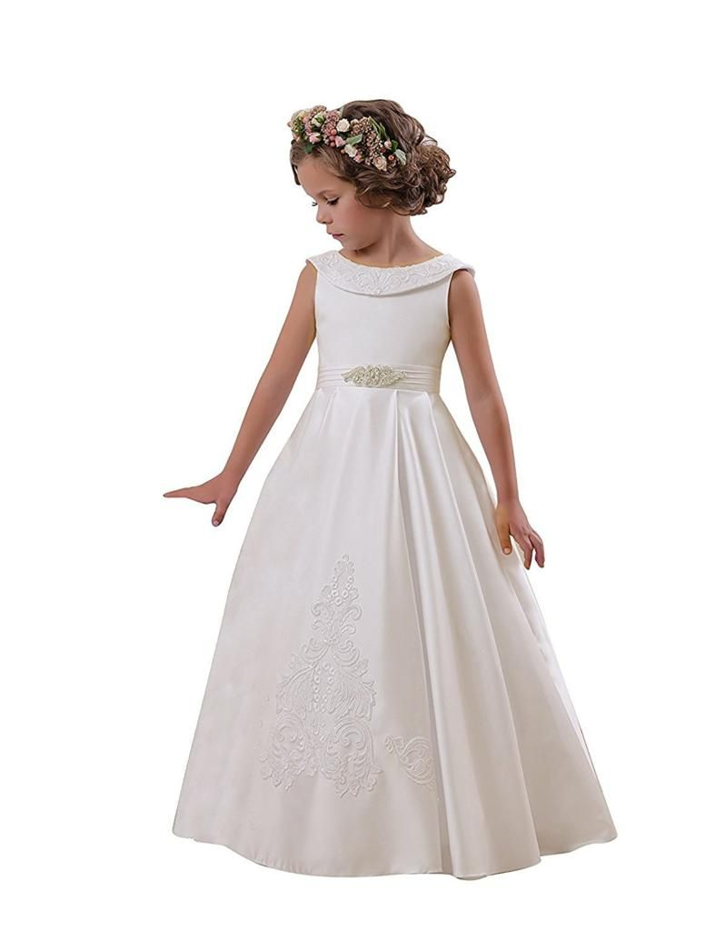 Dresses for 12 year olds for a wedding  Carat Elegant ONeck Sleeveless ALine Stain Party Wedding Dresses