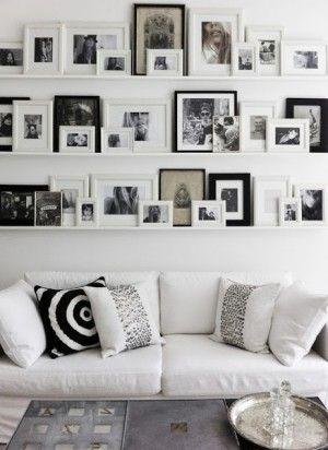 Schöne Idee für eine Fotowand Inspiration Wohnzimmer Pinterest - schöne bilder fürs wohnzimmer