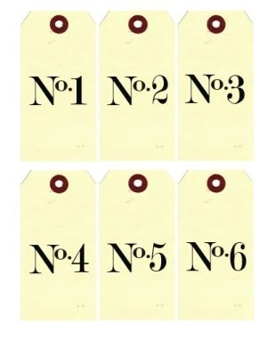 Printable Number Tags by natalie-w
