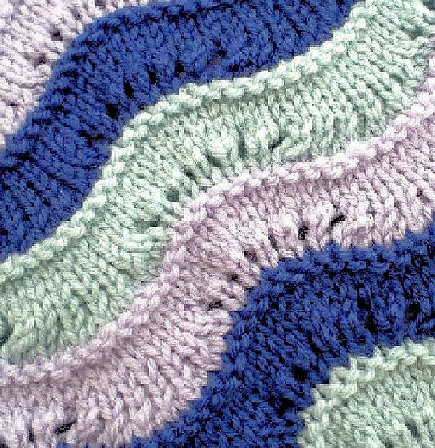 New Wave Blanket pattern by Esther Kate | Blanket knitting ...