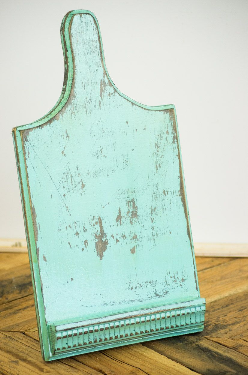 Rustic Robins Egg Blue Reclaimed Cutting Board iPad 5 4 3 2 1 Stand ...