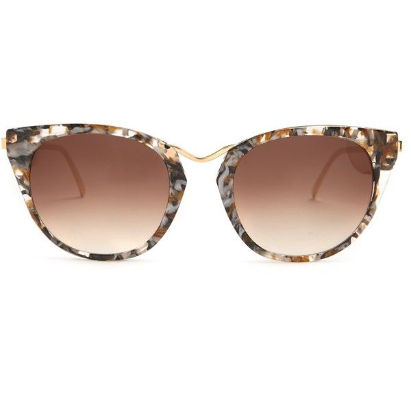 6ed56610b4b Thierry Lasry Hinky cat-eye sunglasses featuring polyvore women s fashion accessories  eyewear sunglasses multi cat