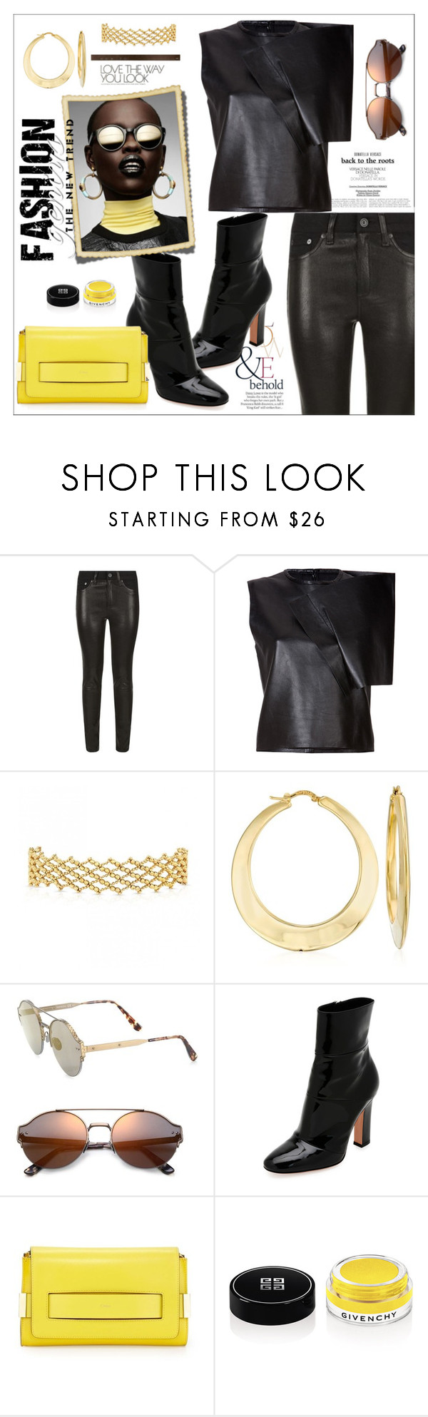 """""""Leather - BP"""" by biange ❤ liked on Polyvore featuring ASOS, rag & bone, J.W. Anderson, Ross-Simons, Bottega Veneta, Gianvito Rossi, Chloé and Givenchy"""