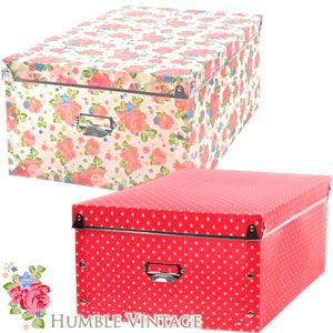 Humble Vintage Folding Storage Box Large Only At Home Bargains  sc 1 st  Pinterest & http://www.homebargains.co.uk/products/7016-humble-vintage-folding ...