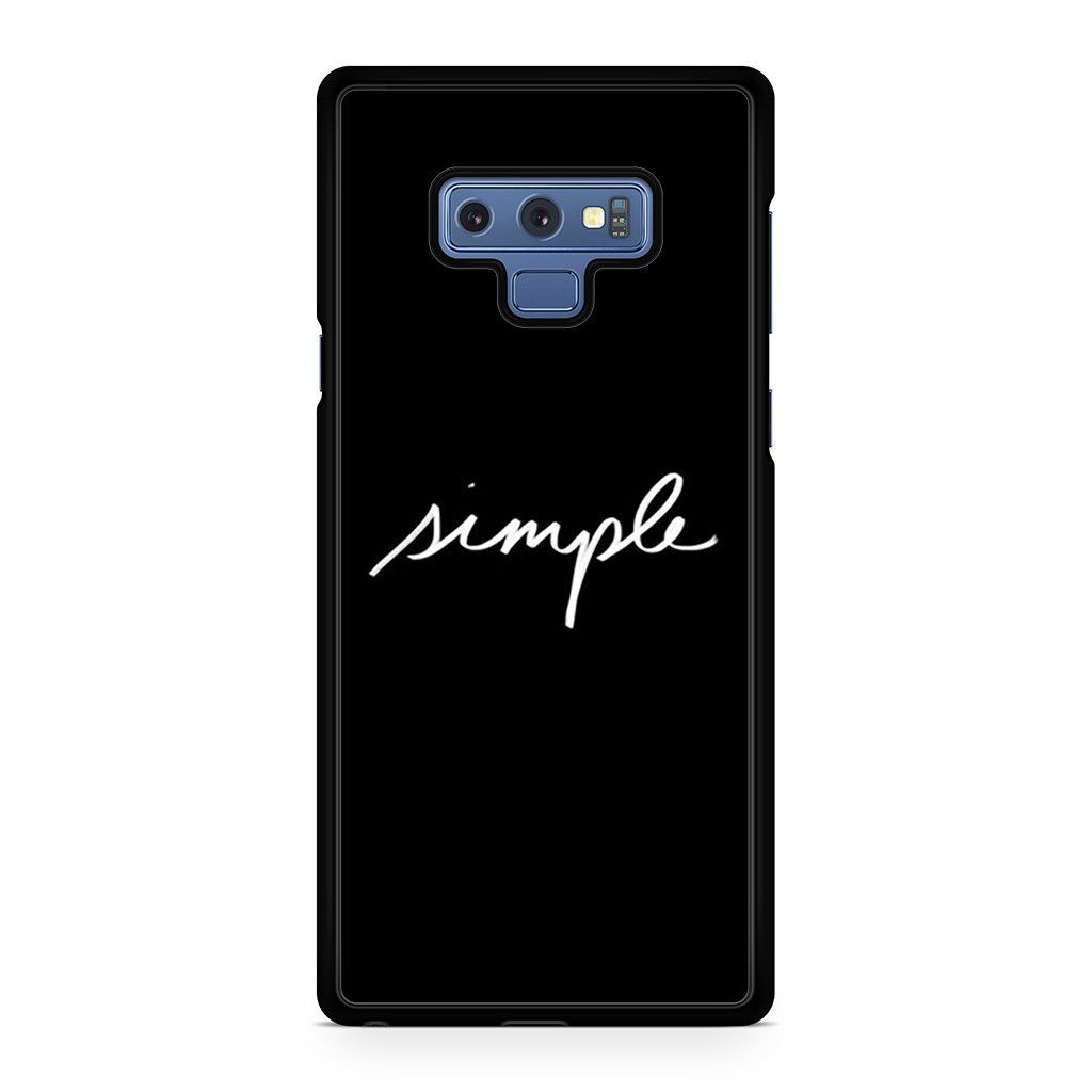 Simple Logo For Samsung Galaxy Note 9 Case
