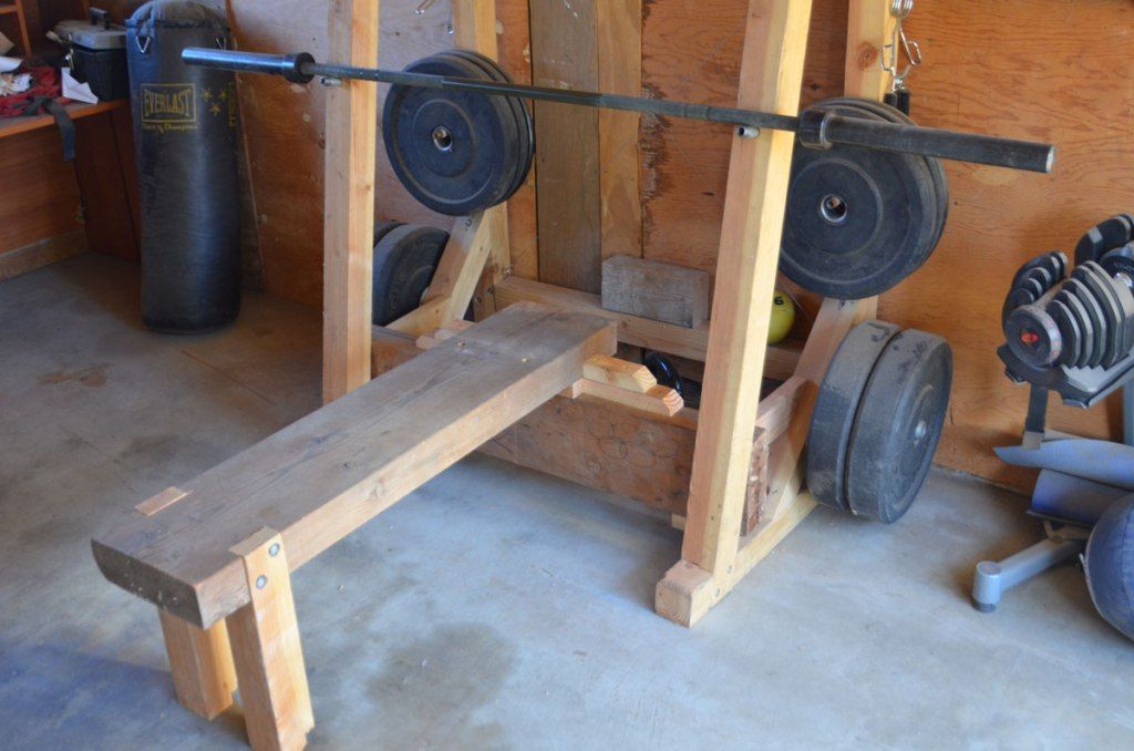 Diy squat rack and bench press in 2020 weight rack