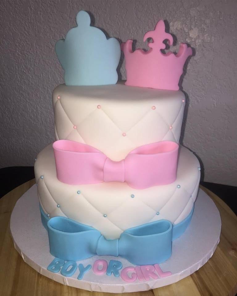 2 Tier Gender Reveal Cake Blue Or Pink Boy Or Girl Ideas