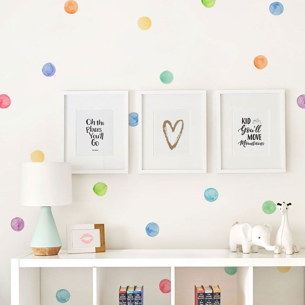 Watercolor Dots Wall Stickers Baby Wall Decals Personalized