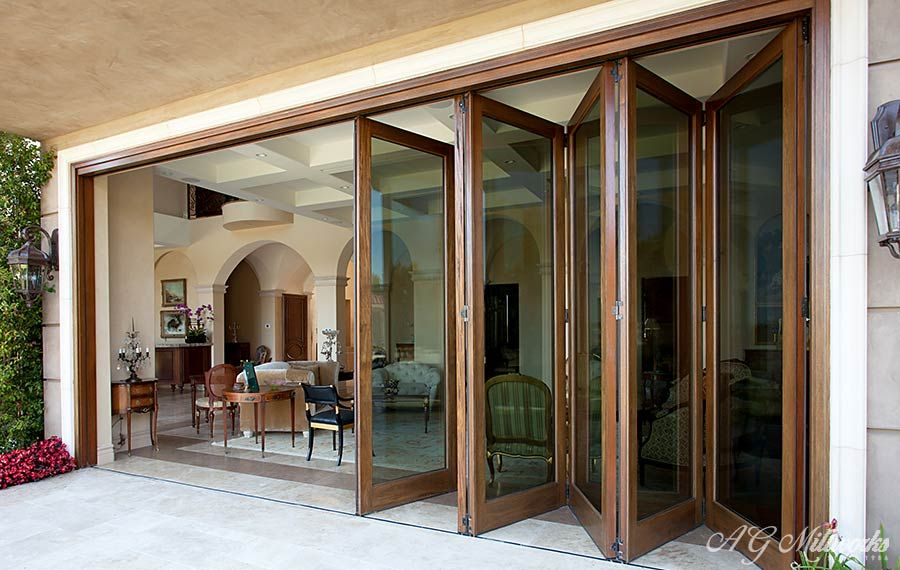 Awesome Accordion Exterior Doors Contemporary - Amazin Decorating ...