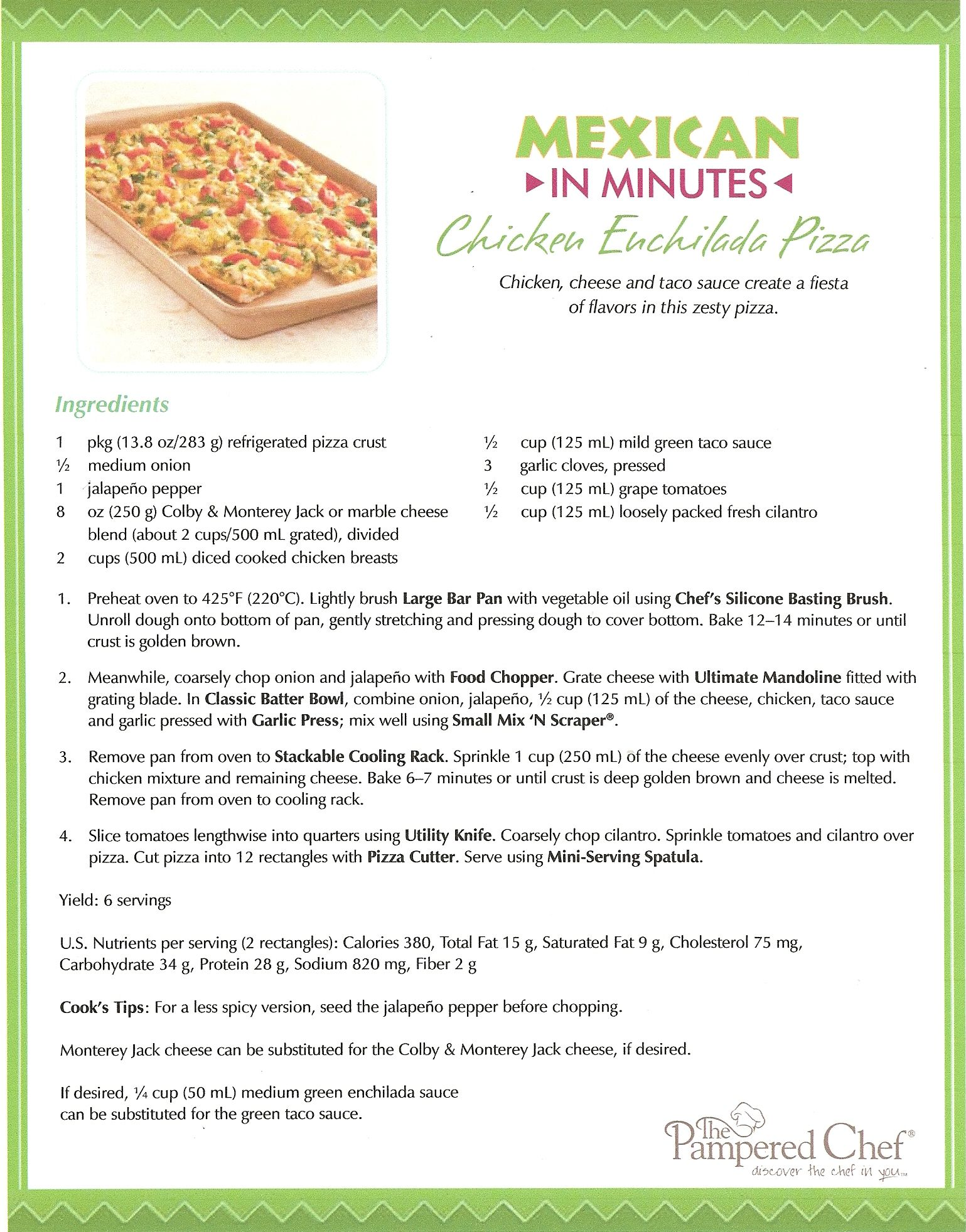 Try This Delicious Chicken Enchilada Pizza Made On The Large Bar