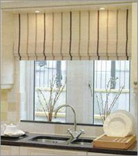 Roman Modern · Kitchen Window CurtainsKitchen BlindsKitchen ...
