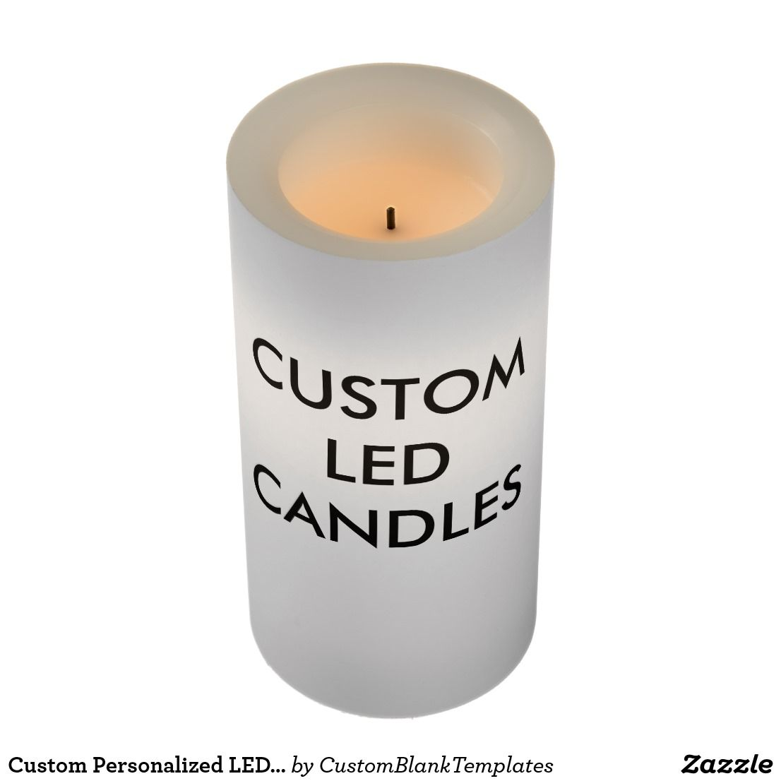 Personalized LED Candle Blank Template