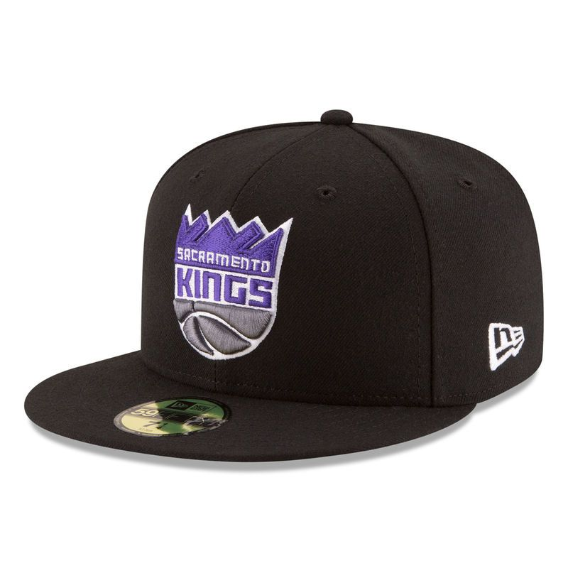 well known official shop better Sacramento Kings New Era New Logo 59FIFTY Fitted Hat - Black ...