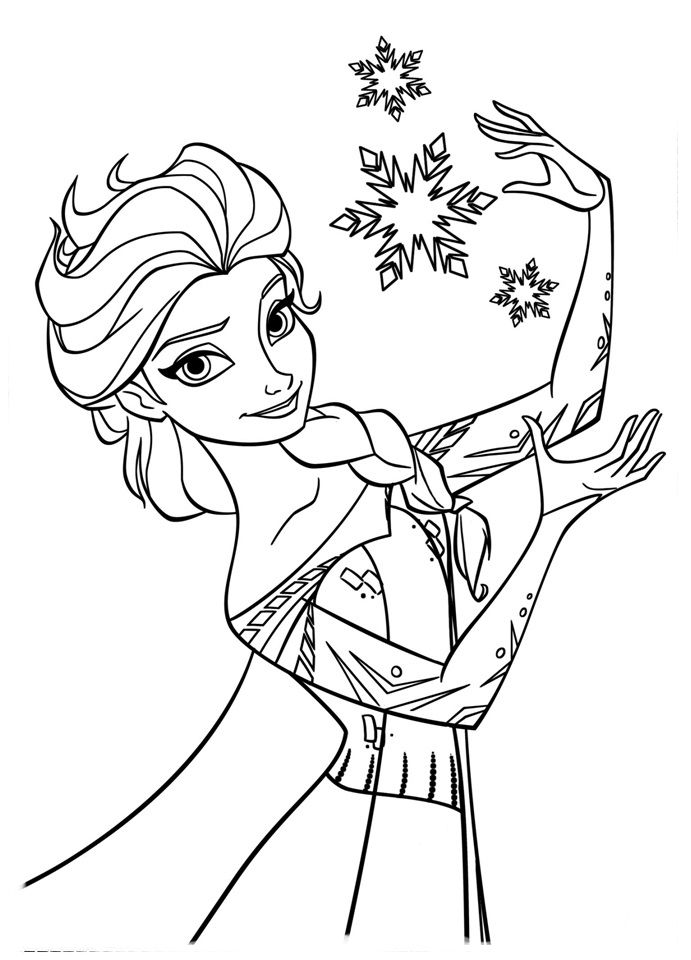 Dibujos Para Colorear De La Princesa Elsa