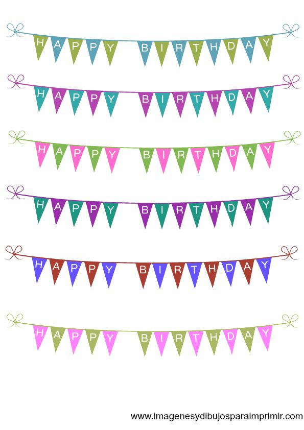 Encantador Imprimible Feliz Cumpleaños Para Colorear Ilustración ...