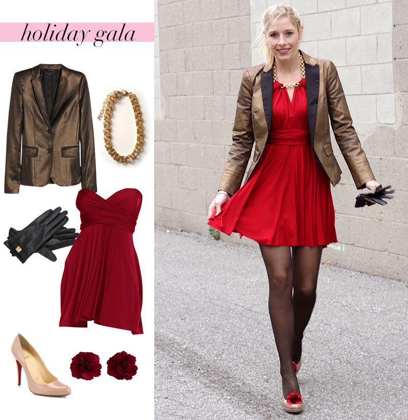 Delightful Work Christmas Party Outfit Ideas Part - 7: What To Wear To A Work Holiday Party - Convertible Dress Outfit Inspiration