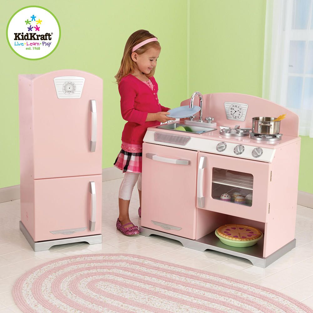 Kidkraft Pink Retro Kitchen And Refrigerator 53160 Toys R Us