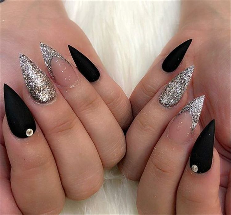 Photo of 58 Black Stiletto Nails Design for 2019 Halloween Latest Fashion Trends for Women sumcoco.com
