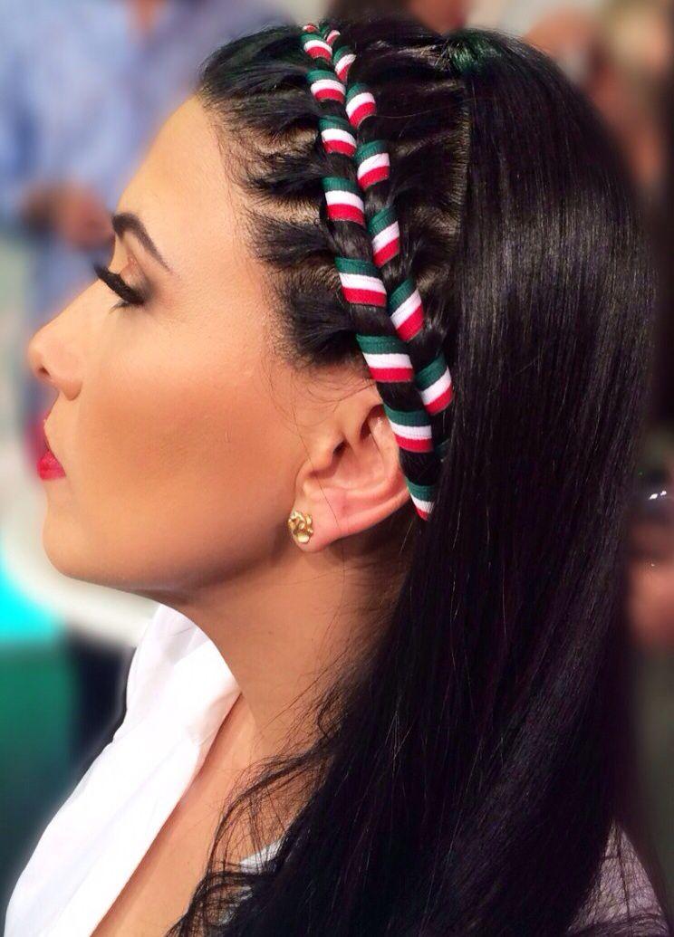 Trenza Mexicana Por Tania8824 Peinados Con Trenzas Faciles Peinados Con Trenzas Trenzas Con Listones