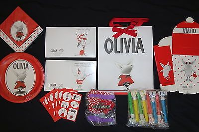 olivia the pig | OLIVIA THE PIG Party for 8 - Plates Napkins Invitations Thank Yous ...