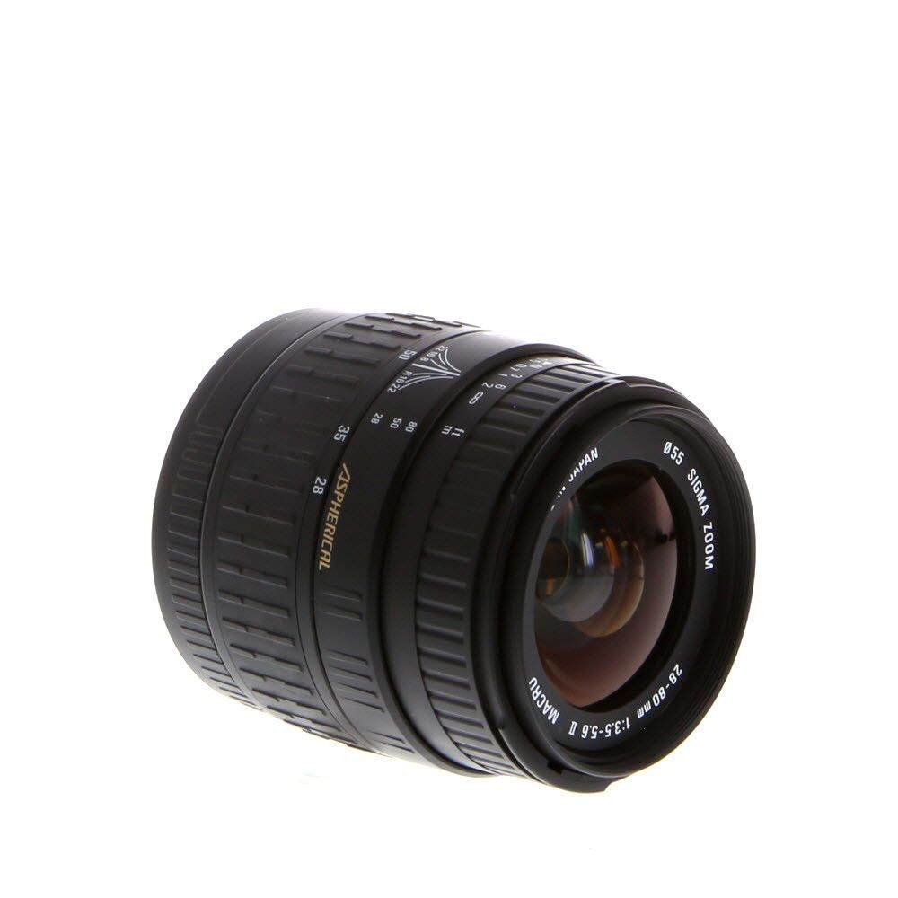 Sigma 28 80mm F 3 5 5 6 Aspherical Macro Ii Lens For Canon Ef Mount 55 Canon Lens Dslr Lenses Sigma Lenses