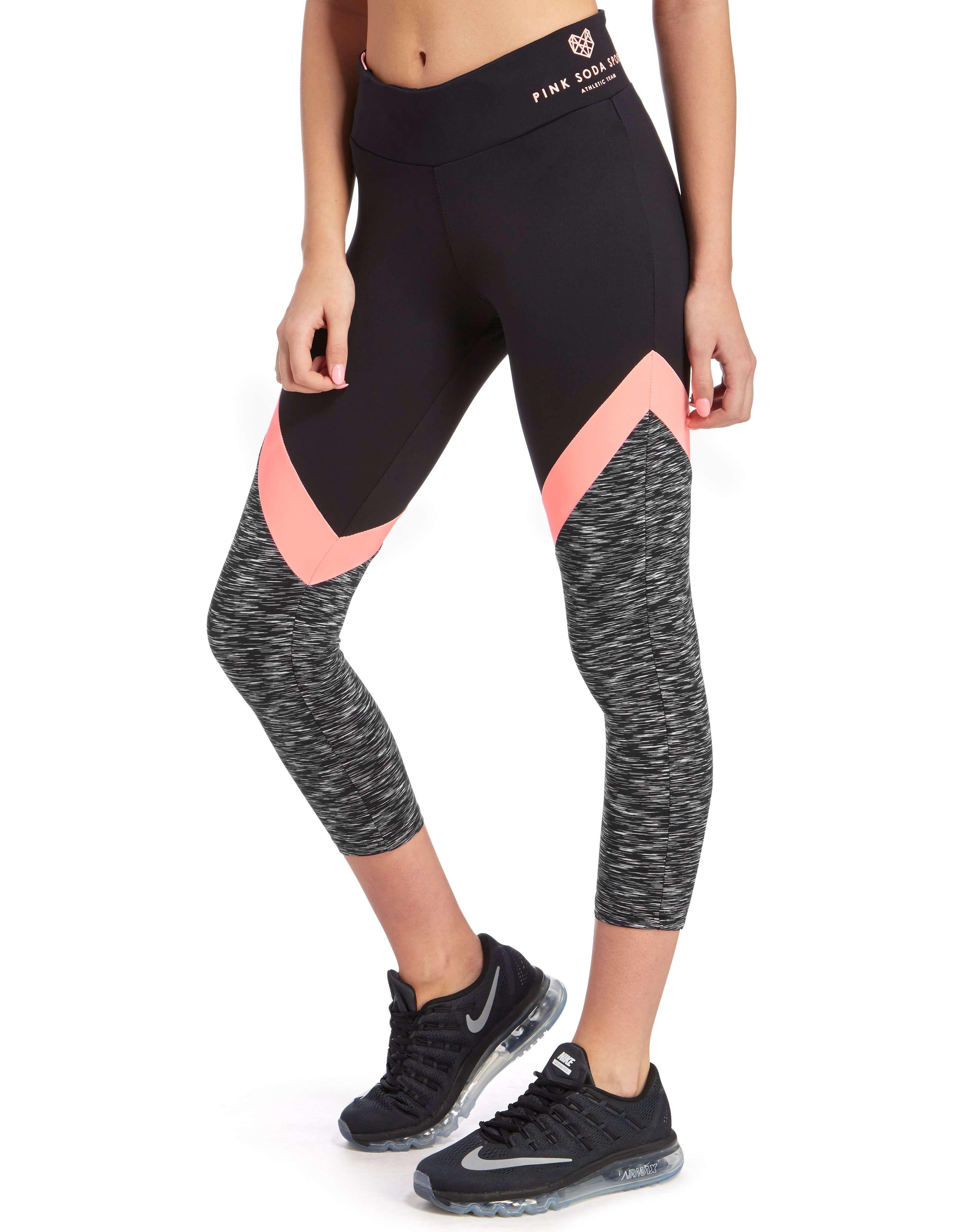 f93c2ef43325e3 Pink Soda Sport Space Dye Capri Leggings - Shop online for Pink Soda Sport  Space Dye