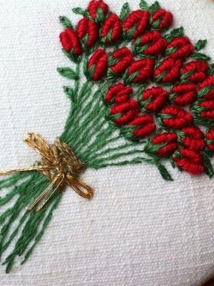Bullion roses embroidery lavanda e lilla elizabeth