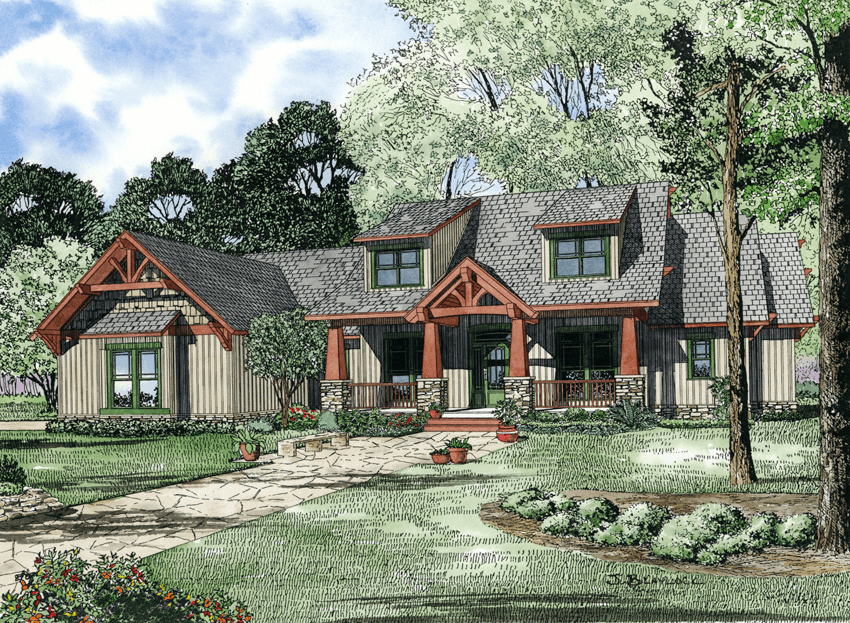 House Plan 1268 Scenic View Rustic House Plan