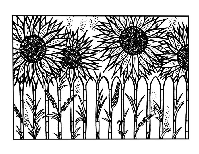 Sunflower Coloring Page download | Adult coloring ...