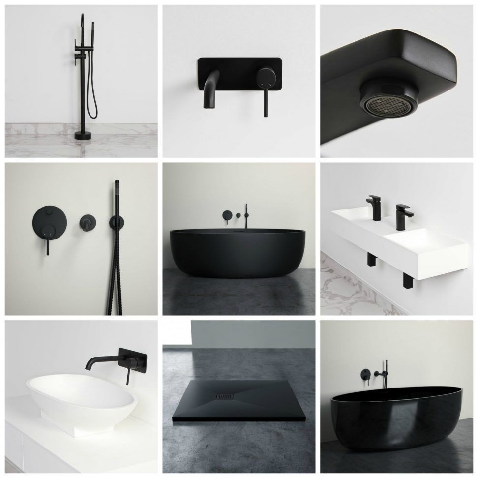 New Matte Black Bathroom Products  Lusso Stone Trendy matte black taps for the bathroom
