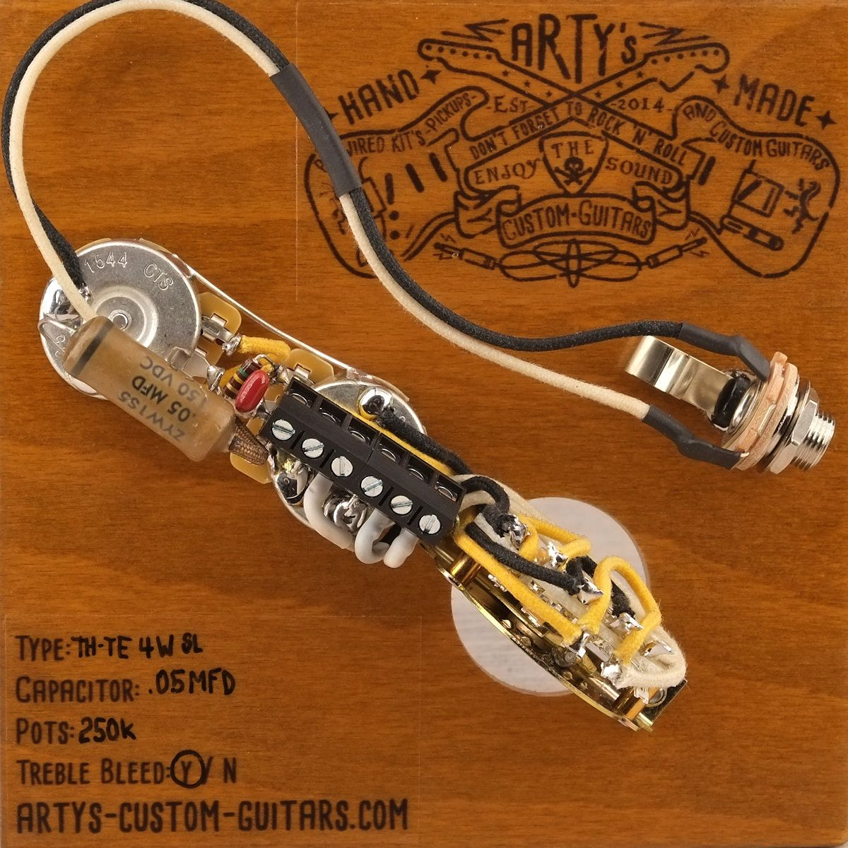 Artys Custom Guitars 4 Way Thinline Telecaster Standard Wiring Kit Guitar Pickup Harness Solderless Pre Wired Prewired