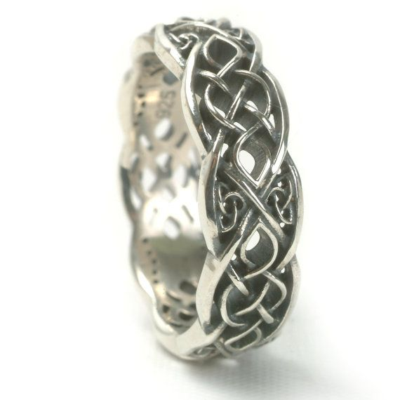 Infinity Wedding Band 925 Sterling Silver Celtic Knot Ring Unique Handcrafted In Your Size
