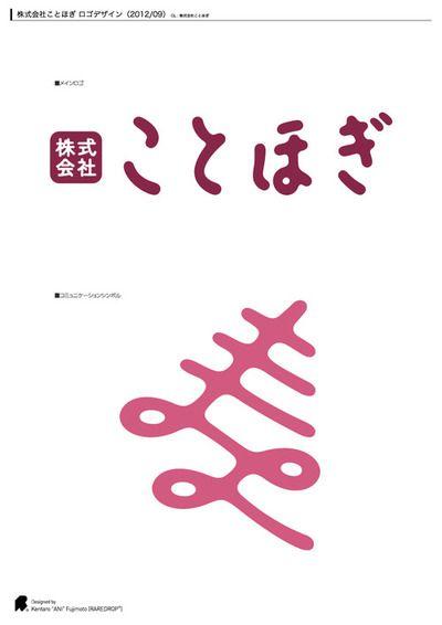Kentaro Ani Fujimoto 文字 ロゴ イラスト