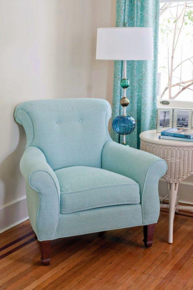 9 fotos de decoración de salas en color aguamarina Bedroom chair