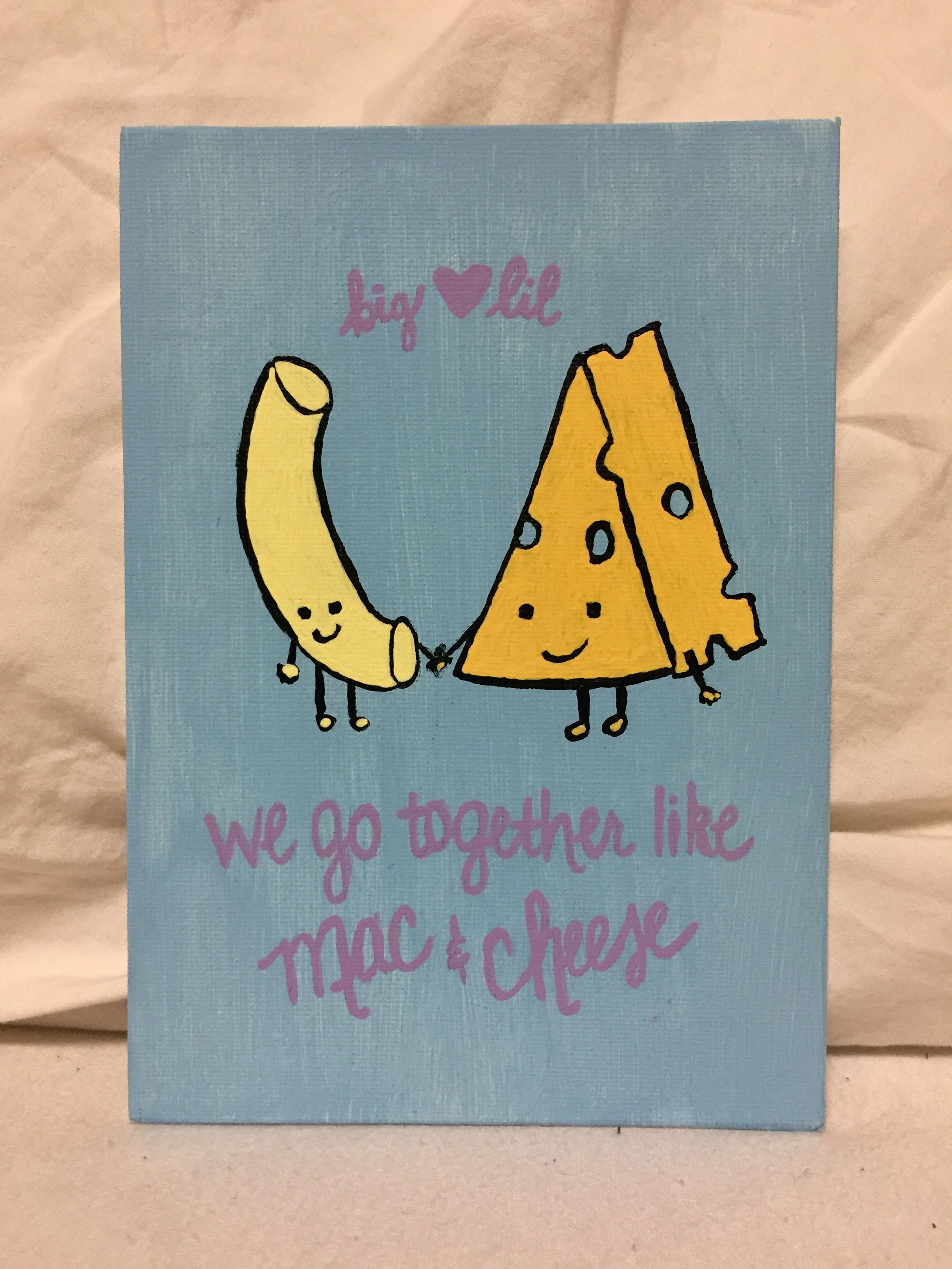 Mac and Cheese Big Little Canvas #biglittlecanvas
