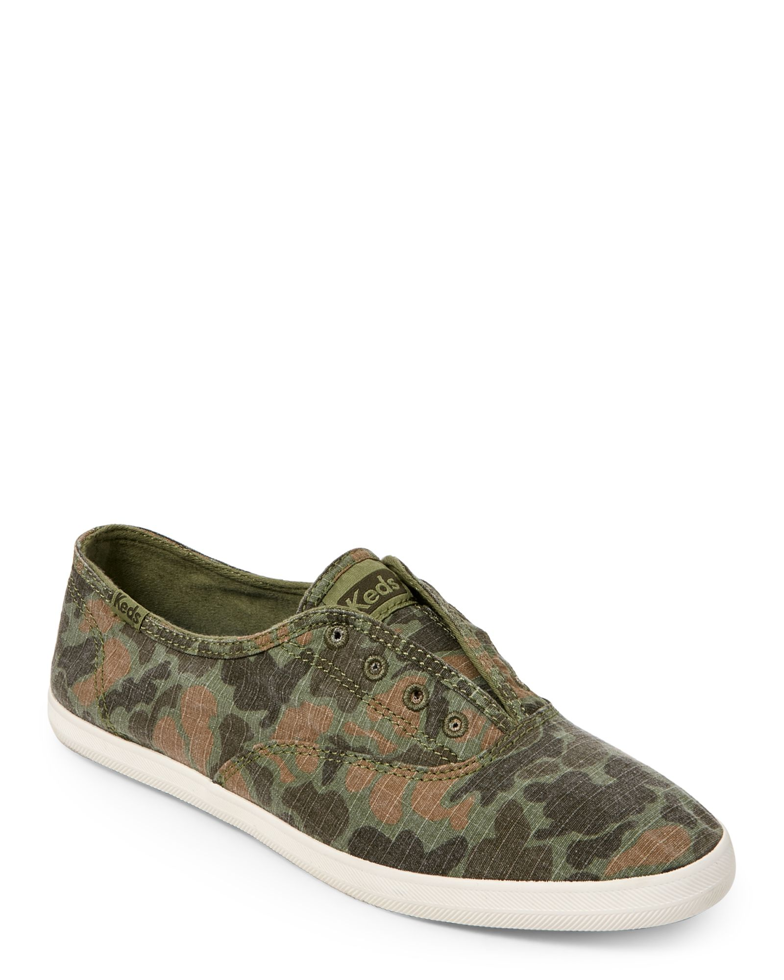 328934af0711 Keds Olive Chillax Camo Ripstop Slip-On Sneakers