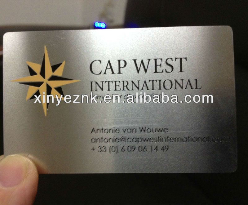 metal mirror stainless business card | Customized RFID | Pinterest